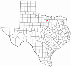 Location of Bridgeport, Texas