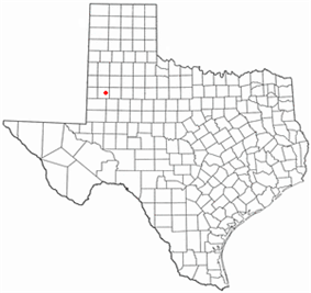Location of Brownfield, Texas