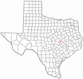 Location of Cameron, Texas