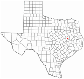 Location of Centerville, Texas