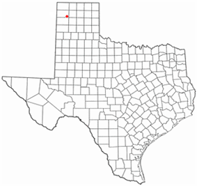 Location of Channing, Texas