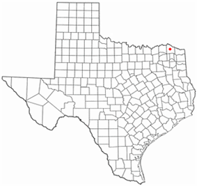 Location of Clarksville, Texas