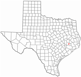 Location of Woodloch, Texas