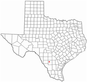 Location of Cotulla, Texas