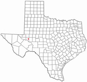 Location of Crane, Texas