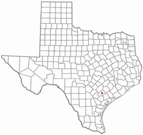 Location of Cuero, Texas
