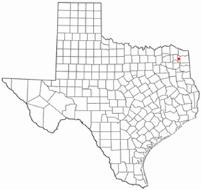Location of Daingerfield, Texas