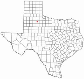 Location of Dickens, Texas