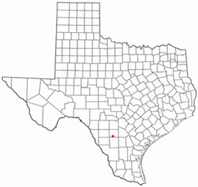 Location of Dilley, Texas