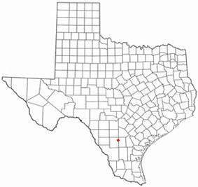 Location of Fowlerton, Texas