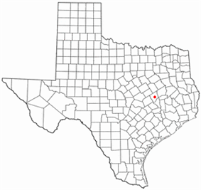 Location of Franklin within Texas