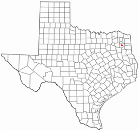 Location of Gilmer, Texas