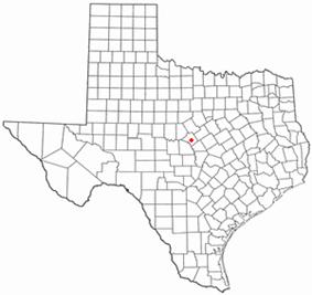Location of Goldthwaite, Texas