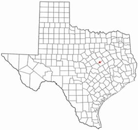 Location of Golinda, Texas