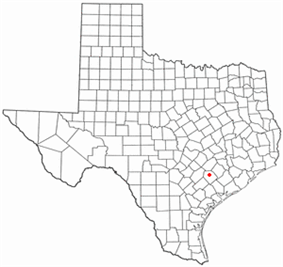 Location of Hallettsville, Texas