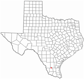 Location of Hebbronville, Texas