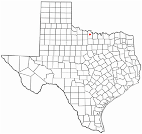 Location of Henrietta, Texas