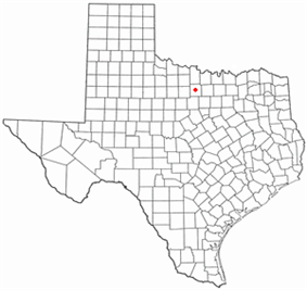 Location of Jacksboro, Texas