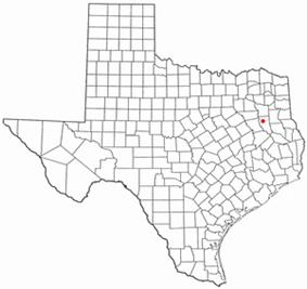 Location of Jacksonville, Texas