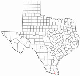 Location of La Feria, Texas