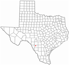 Location of La Pryor, Texas