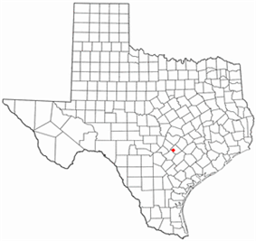 Location of Martindale, Texas