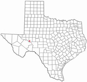 Location of McCamey, Texas
