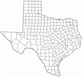 Location of Memphis, Texas