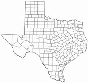 Location of Mercedes, Texas