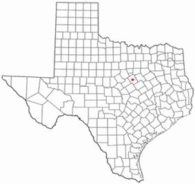 Location of Meridian, Texas