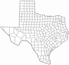 Location of Newton, Texas