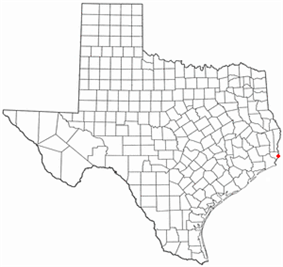 Location of Orange, Texas