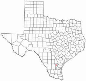 Location of Owl Ranch-Amargosa, Texas