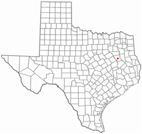 Location of Palestine, Texas