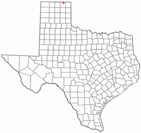 Location of Perryton, Texas