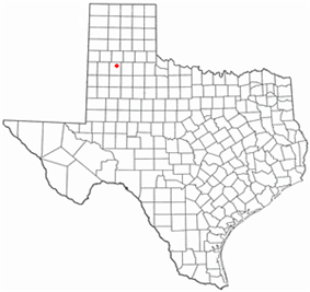 Location of Plainview, Texas