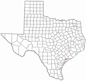 Location of Port Lavaca, Texas