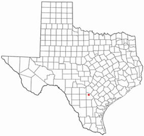 Location of Poteet, Texas