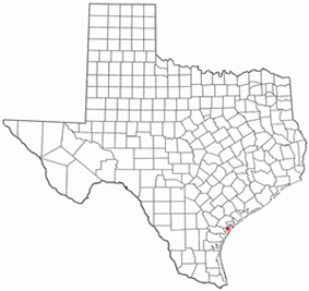 Location of Rockport, Texas