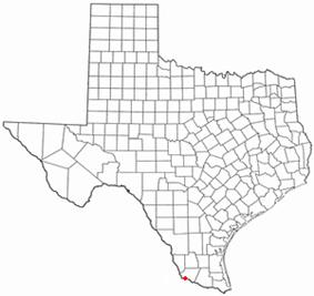 Location of Roma, Texas