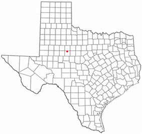 Location of Sweetwater, Texas