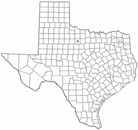 Location of Throckmorton, Texas