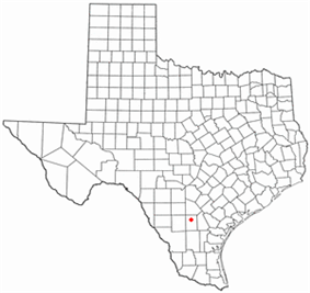 Location of Tilden, Texas