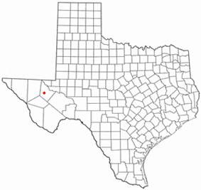 Location of Toyah, Texas