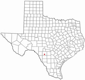 Location of Uvalde, Texas