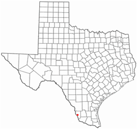 Location of Zapata, Texas