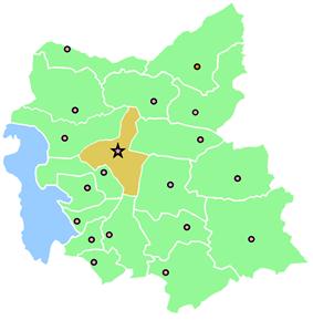 Location of Tabriz County in East Azerbaijan Province