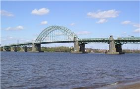 Bridge as seen from the New Jersey shoreline looking at Tacony