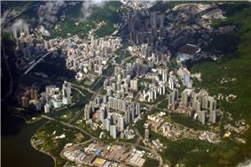 Day view of Tai Po in the Tai Po District