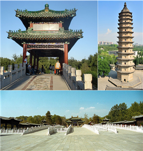 Longtan Park, The east pagoda in Twin Pagoda Temple, Jinci Temple.